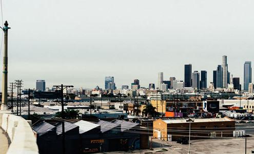 City skyline Los Angeles
